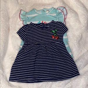 Bundle of 2 toddler girl blouses